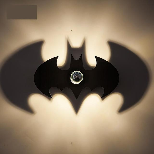 Children Room Led Batman night light Shadow wall sconce ...