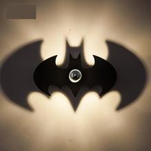 Children Room Led Batman Night Light Shadow Wall Sconce Porch Wall Lamp  Home Led Spot Abajur