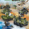 World war Modern military scenes tiger action bricks army forces artillery armored jeep tank motorcycle building block toys