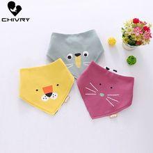 цена Chivry 3Pcs Baby Boy Girl Bandana Cotton Bib Burp Cloth Cartoon Print Triangle Baby Bibs Scarf Meal Collar Burp Mouth Towel онлайн в 2017 году