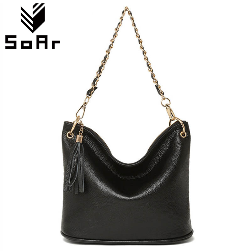 SoAr Women Bag Genuine Leather New Arrival Tassel Luxury Handbags Women Messenger Bag Crossbody Bag Chain Totes Fashion Hot Sale цена
