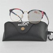 MINCL/Женская Рамка с цветами из сплава фотохромные прогрессивные многофокусные очки для чтения с двойным фокусом зеркало для чтения с коробкой NX