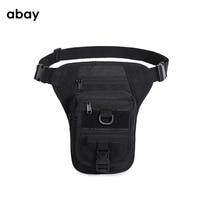 Men Canvas Drop Leg Bag Waist Fanny Pack Belt Hip Bum Military travel Multi purpose Messenger Shoulder Bags
