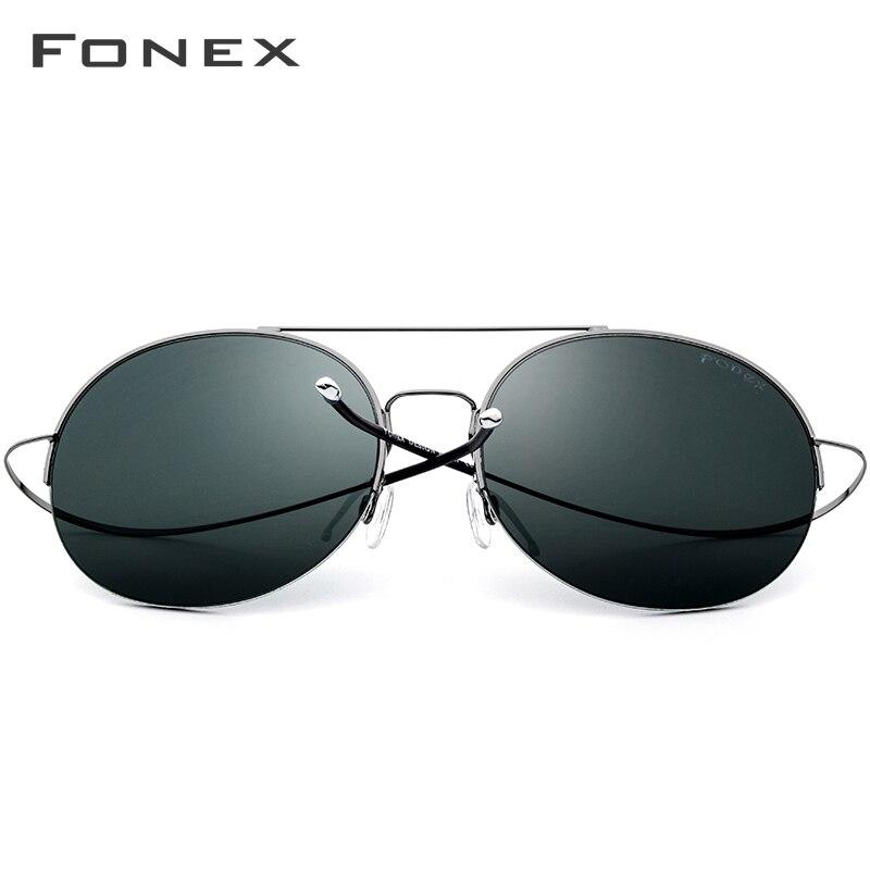 Elastic Titanium Alloy Sunglasses Men Oversize Round Nylon Lens Women Vintage Sun Glasses For Men Big Face Clearance Sale 8618