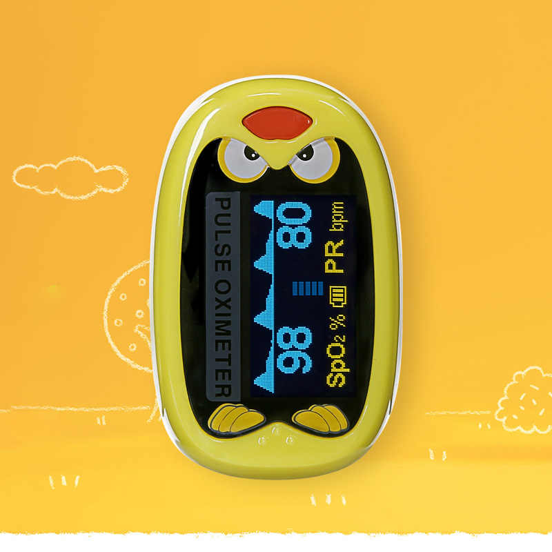 Oxímetro de pulso para dedo infantil BOXYM, medidor de saturación de oxígeno en sangre SpO2 pediátrico para niños recién nacidos, recargable