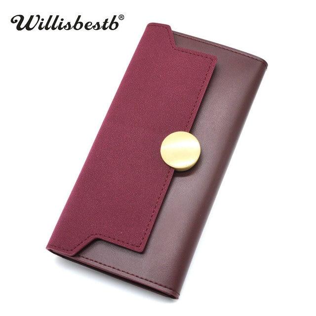 2018 новый бренд дамы кошелек Для женщин кошельки кожи долго Hasp сцепления телефон карман сумки и женский кошелек женщина бумажник держатель для карт