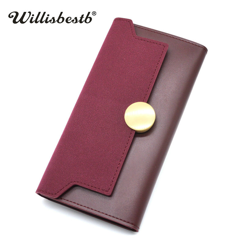 2018 New Brand Ladies Purse Women Wallets Leather Long Hasp Clutch Phone Pocket Bag And Female Purse Woman Wallet Card Holder