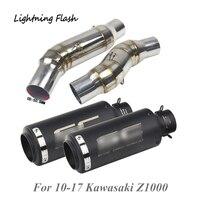 Для 2010 2011 2012 2013 2014 2015 2016 2017 Kawasaki Z1000 мотоцикл выхлопной трубы 51 мм Mid + хвост трубой комплект для левой и правой стороны