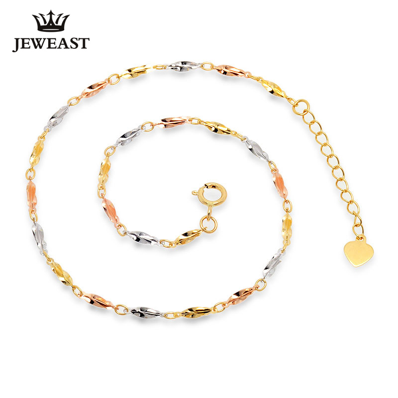 цена Girl 18K Pure Gold Bracelet Solid Au750 Carambola Bangle White Rose Yellow Party Trendy Women Gift Good Nice Hot Sale Discount