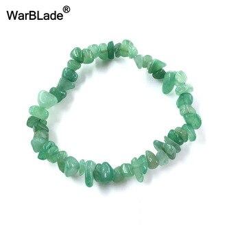 WarBLade Irregular Natural Gem Stone Bracelet Stretch Chip beads Nuggets Amazon Rose Crystal Quartz Bracelets Bangles For Women 3