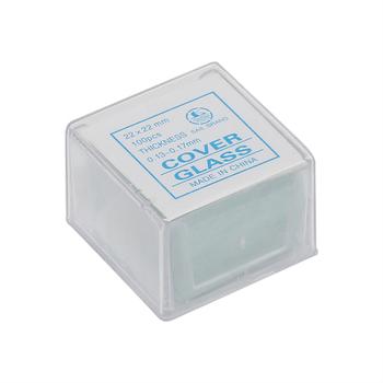 22*22mm 100 szt Mikroskop szklane etui przygotowanie próbki tanie i dobre opinie AMDSP CN (pochodzenie) 500X i Pod 22*22mm cover glass Metal PORTABLE Ręczny Mikroskop biologiczny Lornetka