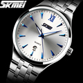 Часы мужчины люксовый бренд Часы Skmei Цифровые кварцевые мужские полное стали наручные часы погружения 30 м Случайные часы relogio masculino mujer
