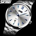Relógios homens marca de luxo Skmei Relógio homens completa aço relógios de pulso de quartzo Digital de mergulho 30 m relógio Ocasional relogio masculino mujer