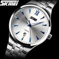 Relojes hombres lujo de la marca Skmei Reloj Digital de cuarzo de los hombres de acero lleno de pulsera de buceo 30 m reloj relogio masculino mujer Ocasional