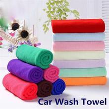 Универсальный 25*25 см Полотенце для мытья автомобиля мягкая микрофибра полировка флиса полотенце для мытья автомобиля впитывание сухой чистящий набор