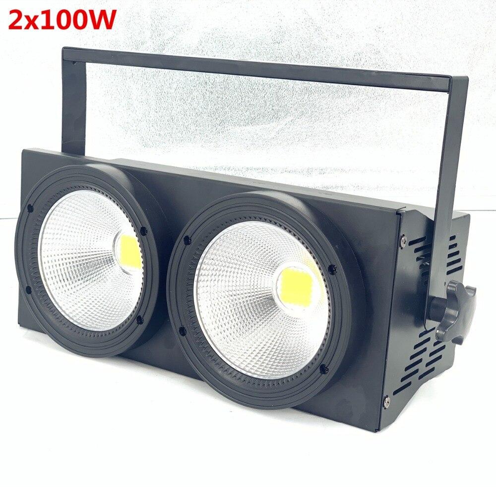 Nouveau 2 yeux 2x100 w LED blanc chaud 3200 K 200 W LED lumière d'audience DMX LED COB 200 W RGBW 4in1 LED cob par lumière