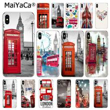 MaiYaCa london bus england telephone Big Ben Soft Phone Case for iPhone 8 7 6 6S Plus X XS MAX 5 5S SE XR 10 Cover Capa(China)