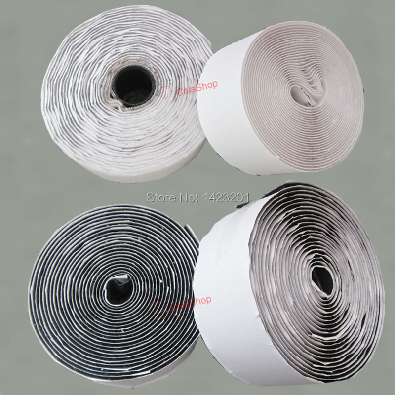 5 yard Lot 2 50mm Hook Loop Tape Self Adhesive Black and White