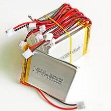 10 шт. 504050 JST 2,0 мм 3,7 в 1500 мАч литиево-полимерный lipo аккумуляторная батарея для DVD, Pad Мобильный планшет Дополнительный внешний аккумулятор камеры