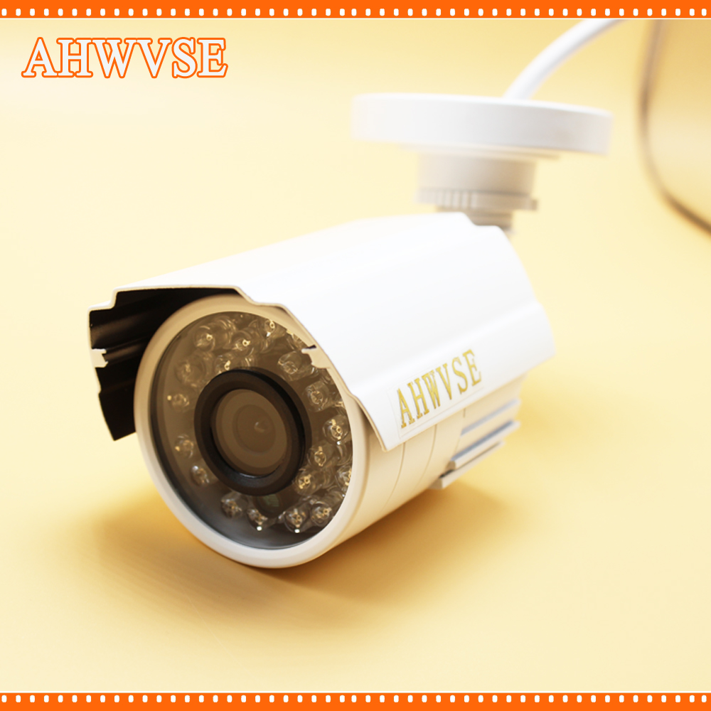 AHWVSE hot CMOS  Waterproof AHD 720P Bullet Metal Camera HD 1MP CCTV Outdoor Security 24 IR Night Vision BNC Cable free shipping new waterproof ahd 720p bullet metal camera hd 1mp cctv outdoor security 24 ir night vision bnc cable