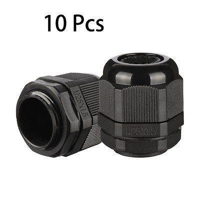 10 Pcs M25 IP68 Nylon Cable Gland Joint Adjustable for 13mm-18mm Dia Cable Wire nylon cable connector waterproof nylon plastic gland pg7 9 11 13 5 16 19 21 25 29