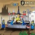 Castelo educacional enlighten building blocks brinquedos para crianças presentes para crianças arma cavaleiro compatível com lepin