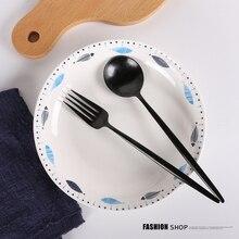 New Creative Fish Plate Dish Home Ceramic Western Dish Steak Plate 8 Inch Round Dinner Salad Dumpling Free Shipping
