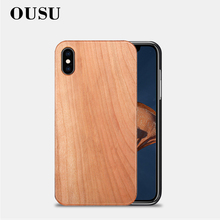 OUSU Nature Wood Case Hard PC Cover For iphone xs mas x xr 5 5s se 6 6s 7 8 plus Original Fitted Wooden Cases Camera Protection
