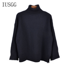 2019 Autumn Korean Fashion Women Sweaters And Pullovers Regular Long Sleeve Turtleneck Solid Cotton Sweater Top