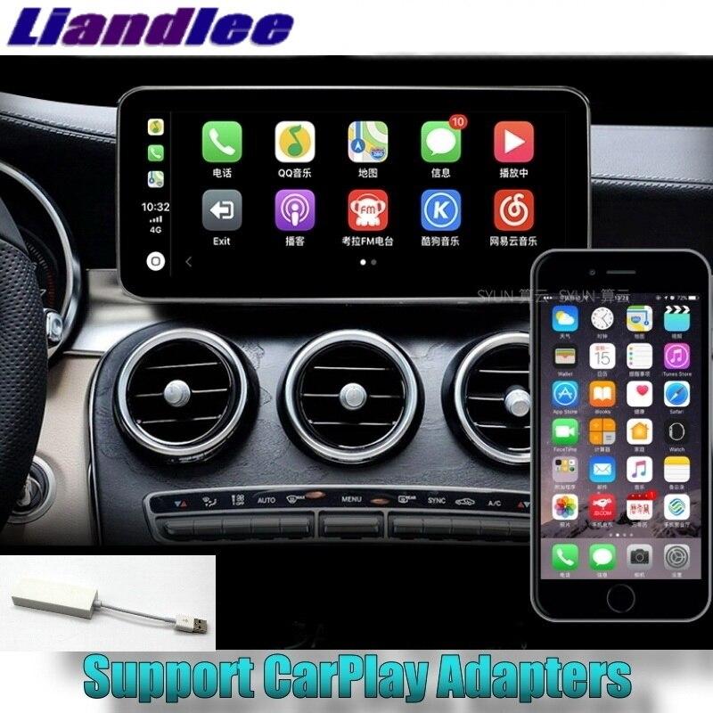Lecteur multimédia de voiture Liandlee 4G RAM pour Mercedes Benz classe C MB W205 2014 ~ 2018 NAVI autoradio stéréo CarPlay Navigation GPS