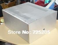 All Aluminum Muliti function Caseing Tube Amplifier Power Supply Size D387 W320 H170 DIY HIFI Cut Ventilating Holes Chasis