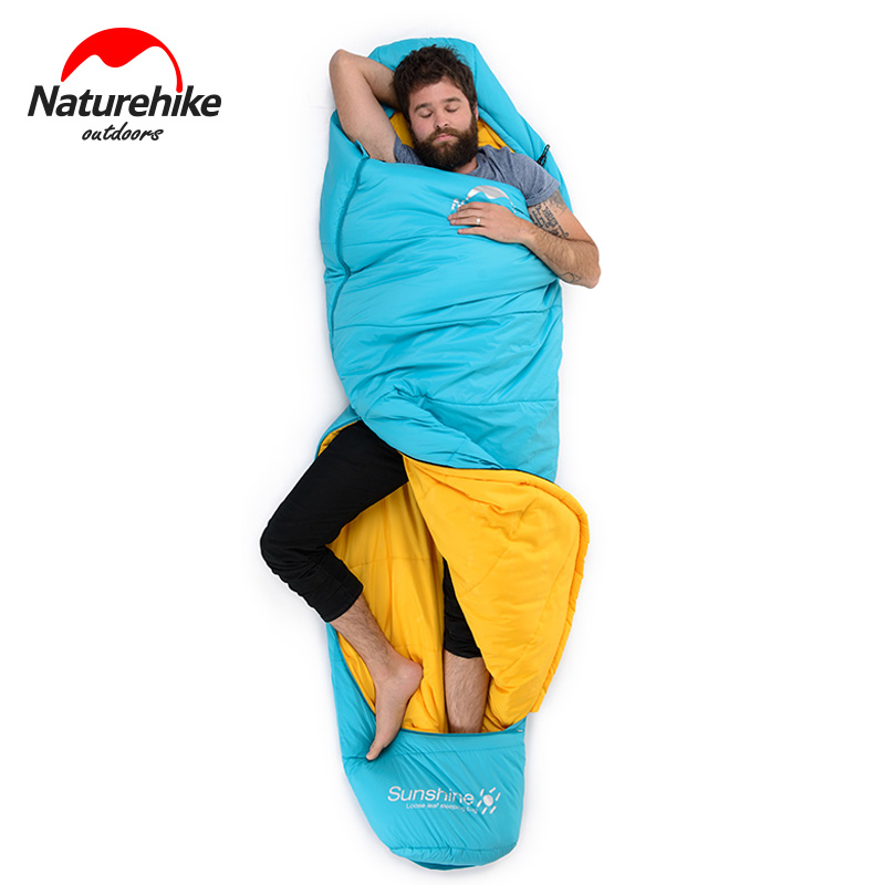 NH17G350-E Outdoor Cotton Sleeping Bag Ultralight Spring Winter Portable Camping Mummy Sleeping Bags Adult Outdoor Lazy Bag creeper 2017 new outdoor sleeping bags cotton warm lazy bags winter tent sleeping bags camping travel adult convinient sleep