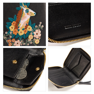 Image 5 - EMINI HOUSE Embroidery Wallet Women 2018 Purse Female Women Wallets Luxury Brand Wallets Designer Purse Wallet For Credit Cards