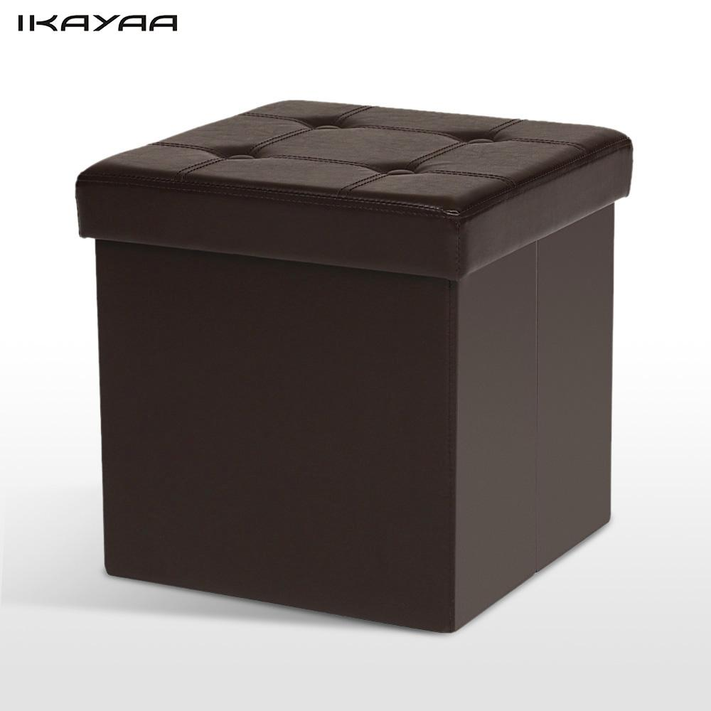 Aliexpress.com : Buy iKayaa UK Stock Excellent PU Leather Folding Storage  Ottoman Cube Foot Stool Seat Footrest Foldable Storage Box Pouffe from  Reliable ... - Aliexpress.com : Buy IKayaa UK Stock Excellent PU Leather Folding