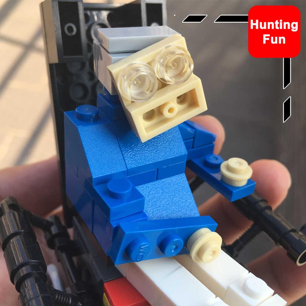 MOC seti Stephen Hawking yaratıcı Minifigs Mini rakamlar koleksiyonu DIY Bricklink oyuncak inşaat blokları çocuk hediye için