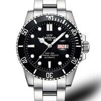 Reloj de marca de lujo para hombre  reloj mecánico automático GMT para hombre  relojes luminosos de acero inoxidable con zafiro para buceo  reloj para hombre C-87563