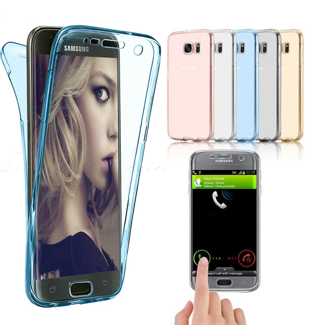 360 Full Protective Case For Samsung Galaxy <font><b>J7</b></font> Neo Nxt J1 J3 J5 <font><b>J7</b></font> 2015 2016 2017 Core Grand Prime Duos Silicon TPU Cover image