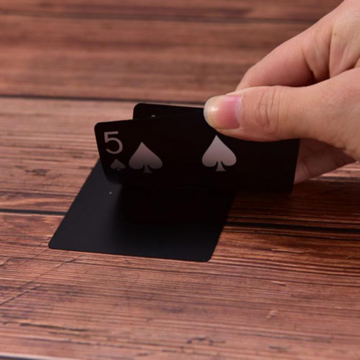 prova dwaterproof água jogando cartões coleção cartões