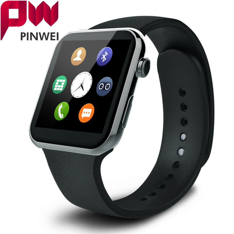 PINWEI Smartwatch Bluetooth Smart Watch Wristwatch for Apple iPhone IOS Android Phone Wearable Devices Sport Watch PK GT08 DZ09 2016 bluetooth smart watch gt08 for