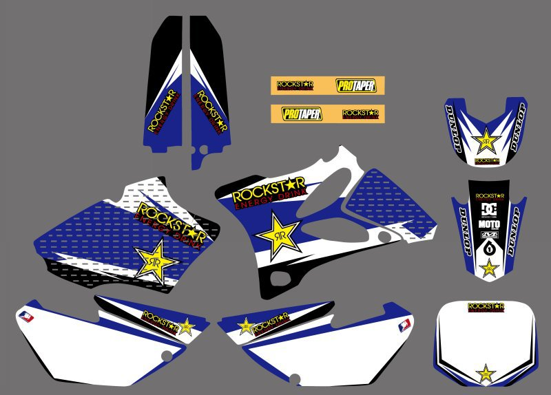 Motorcycle New Style Team Graphic Background Decal And Sticker Kit For Yamaha YZ85 YZ 85 2002 2003 2004 2005 2006 2007 2013 2014-in Decals & Stickers from Automobiles & Motorcycles    1