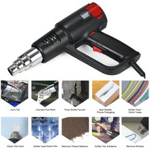 2000W Heat Gun Soldering Hair dryer Hot Air Gun Temperature-controlled Building Hair dryer Heat guns with 4 Nozzles power tools
