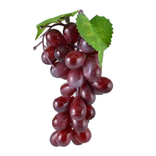 Hot!Bunch Purple Plastic Artificial Grapes Cluster Fruit Decor Desk Table Decoration