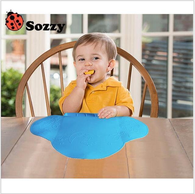 1 pcs SOZZY Bebê Antibacteriano Portátil À Prova D' Água Mat Placemat Esteira do Jogo Infantil Meninas Meninos Comer
