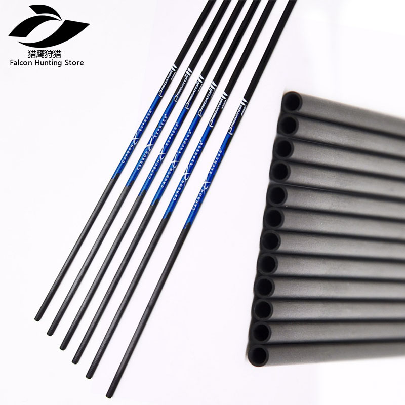 Hunting Shooting  Bow Recurve Archery 6/12PCS Pure Carbon Arrows Shaft CE Spine600-900 ID4.2mm  for Bow