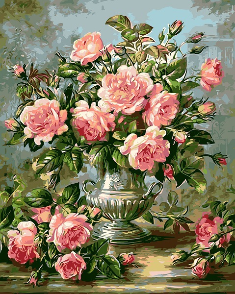 living room decoration paintings numbers rose diy paint by numbers kit for adult flowers diy painting by numbers