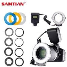 SAMTIAN Flash Light RF-600E 18 PCS LED Macro Ring Flash For Sony With LCD Display LED Macro Ring Speedlite(old interface)