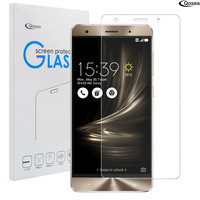 Qosea For Asus Zenfone 3 Deluxe ZS570KL Tempered Glass 9H Hardness Ultra Clear Screen Protector Zenfone ZS570KL Protection Film