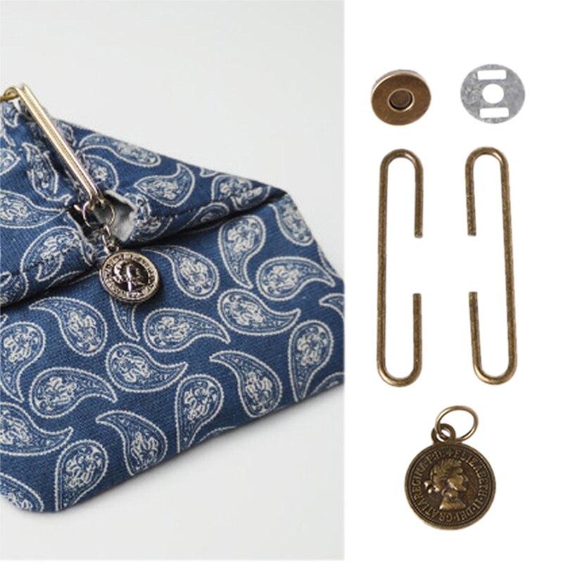 THINKTHENDO Purse-Bag Clasp C-Shaped-Frame Magnetic-Snap-Accessory Metal Retro 5cm Portrait