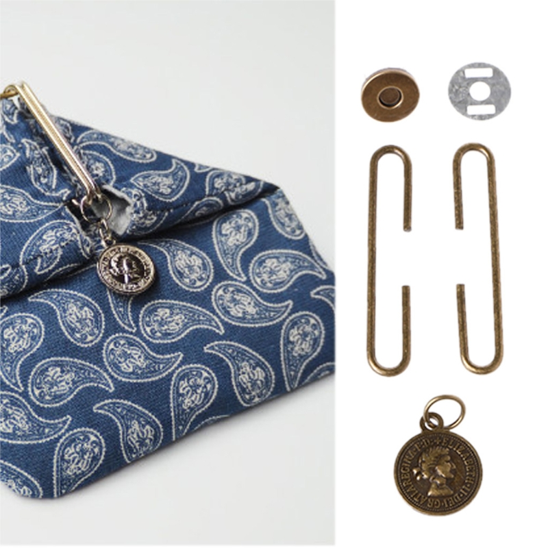THINKTHENDO 5cm Retro Portrait Metal Purse Bag C-shaped Frame Clasp Magnetic Snap Accessory