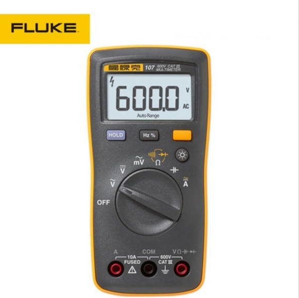Fluke 107 F107 AC/DC Current Palm-sized portable/handheld Digital Multimeter with Magnetic Pendant new fluke 303 clamp multimeter ac dc handheld 600a 30mm 4000ohm with backlight